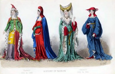 Middle Ages, costumes, clothing, Fashion
