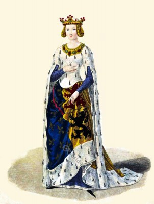 Marie de Hainaut, court, Medieval, Burgundy, costume, Middle ages, clothing