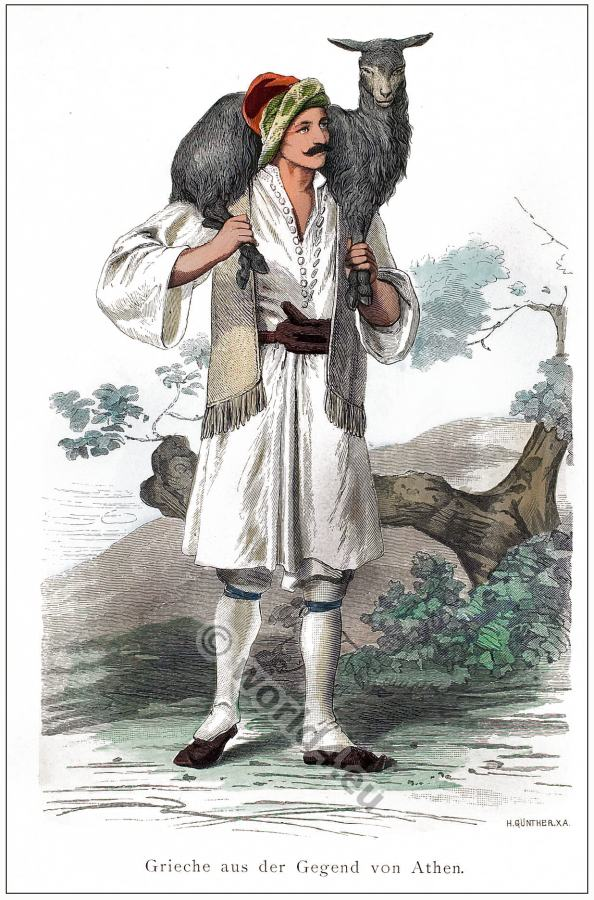 Traditional Greek folk clothing. Greek national costume