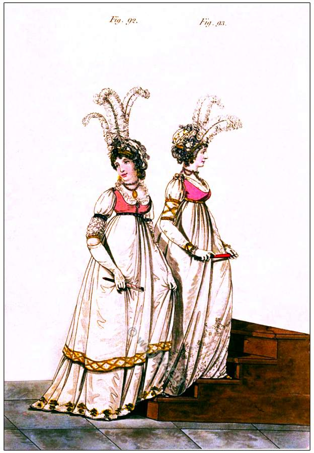 Chiffonet, crape, Heideloff, Jane Austen, Regency, Neoclassical, Gallery, Fashion, Costumes,