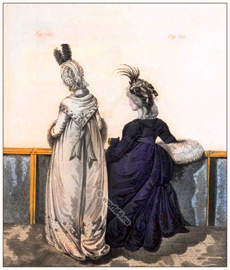 Regency fashion. Georgian fashion costume period.