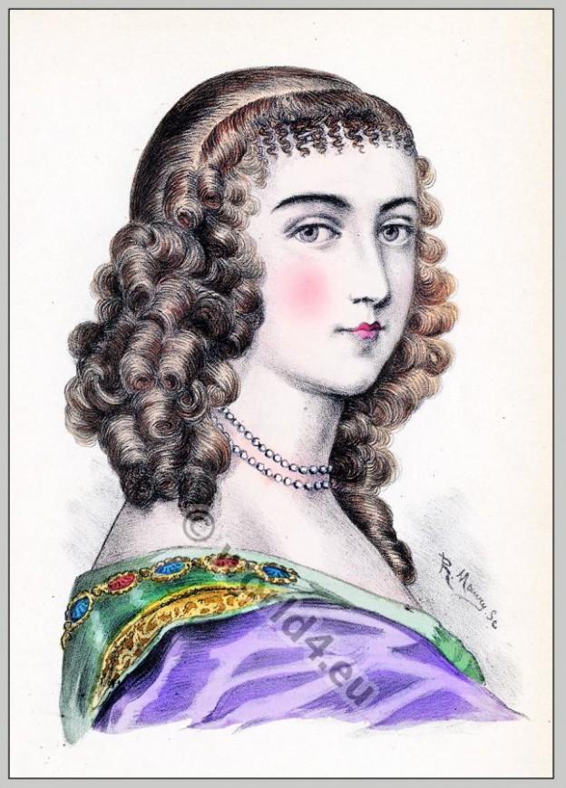 Ninon, Lenclos, Coiffure, courtesan, salonière, Baroque, hairstyle,