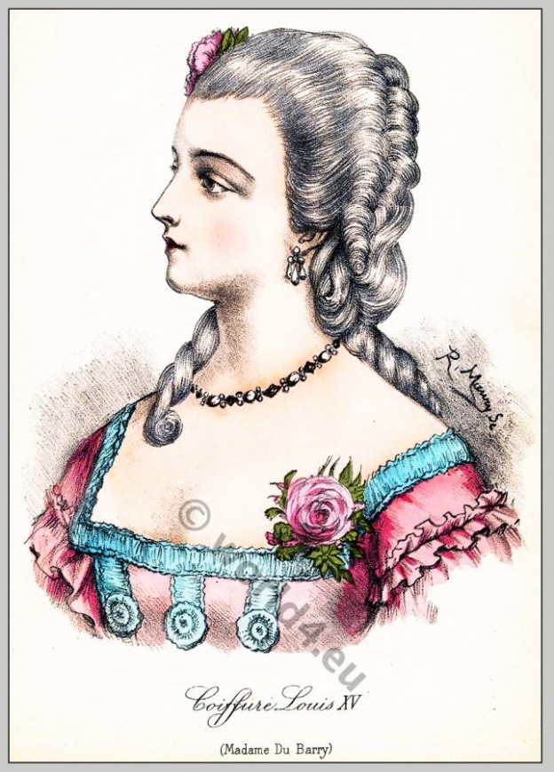 Comtesse, Barry, rococo, hairstyle, Coiffure,