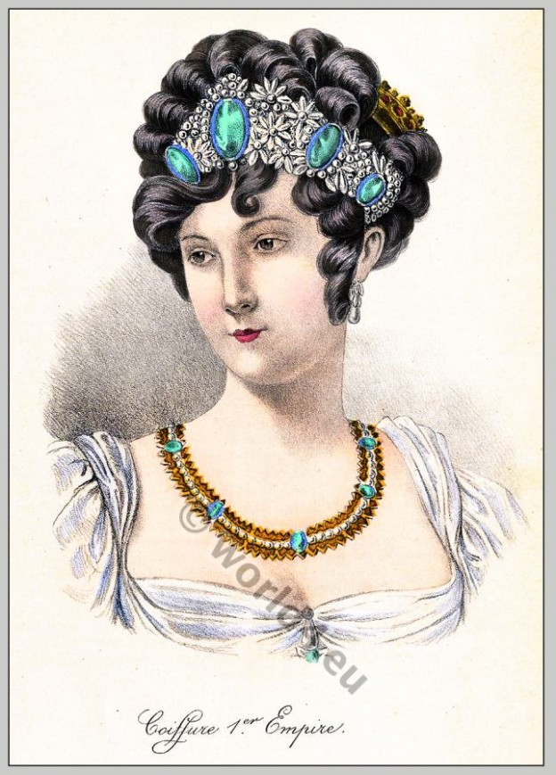 Coiffure, Premier Empire,