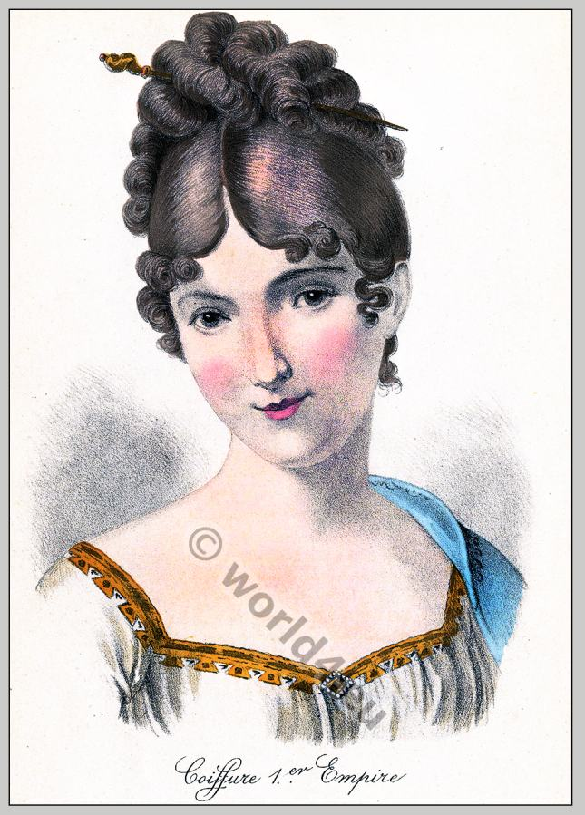 Juliette Récamier, Empire, hairstyle, French,