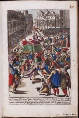 Venice carnival costumes. Venice fashion. 16th century costumes.