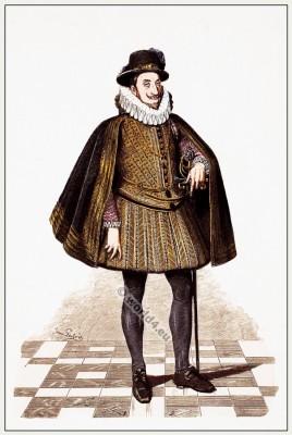 Emperor, Ferdinand II, Spanish, court dress, 16th, century, fashion history, Lipperheide