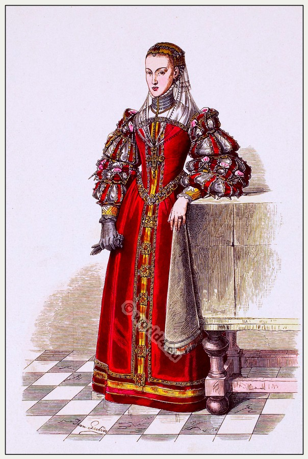 Joanna Grand Duchess of Florence. 16th century renaissance costume.