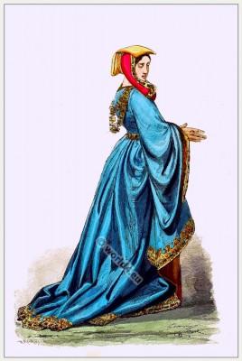 Fashion History 1450. 15th century.