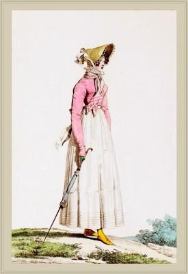 Costume Spencer à l'Anglaise. Merveilleuses. France directoire, regency era fashion. Horace Vernet.
