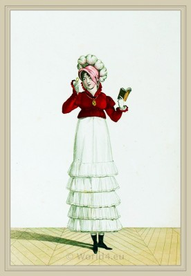 Canezou de Velours. Merveilleuses. France directoire, regency era fashion. Horace Vernet.