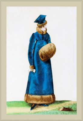 Costume Toque Polonaise. Merveilleuses. France directoire, regency era fashion. Horace Vernet.