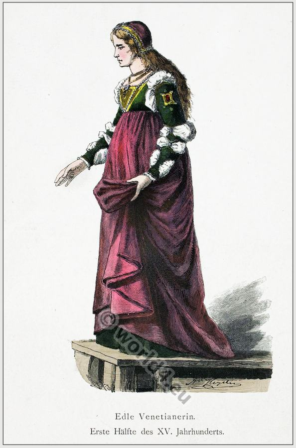 Renaissance woman noble Venetian woman costume