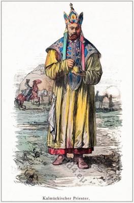 Mongolia Nomadic Kalmyk priest.