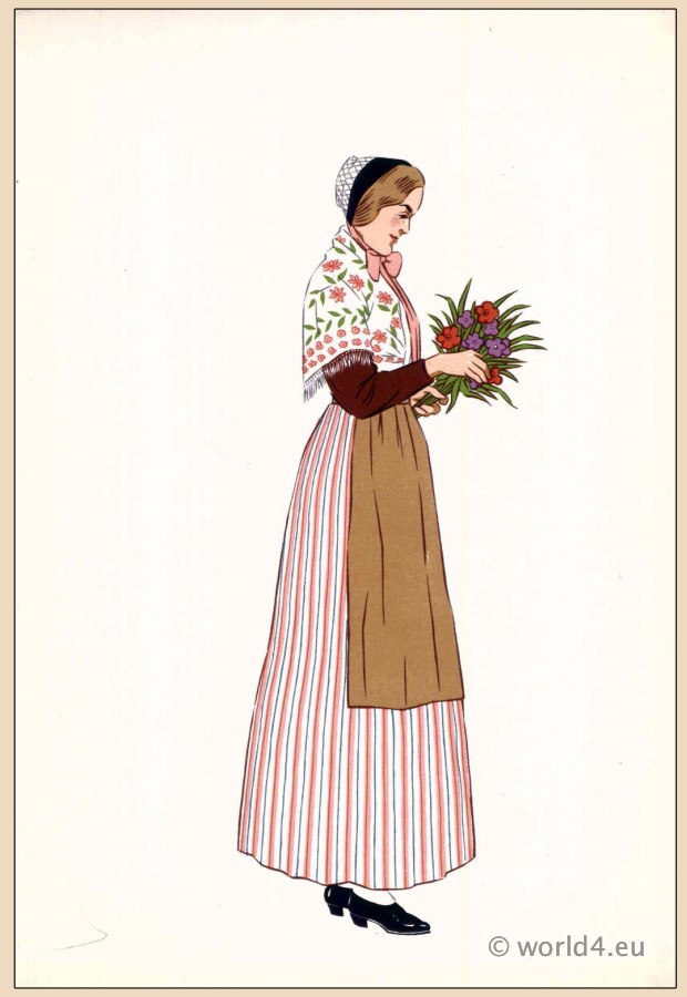 Nancy, Region of Lorraine, traditional, French, France, national, costumes, dress, folk, clothing