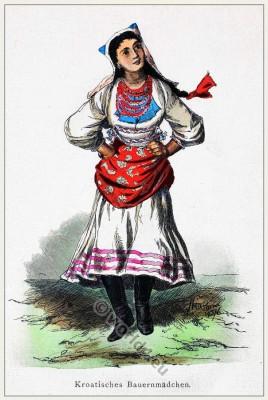 Traditional Croatia folk costume.