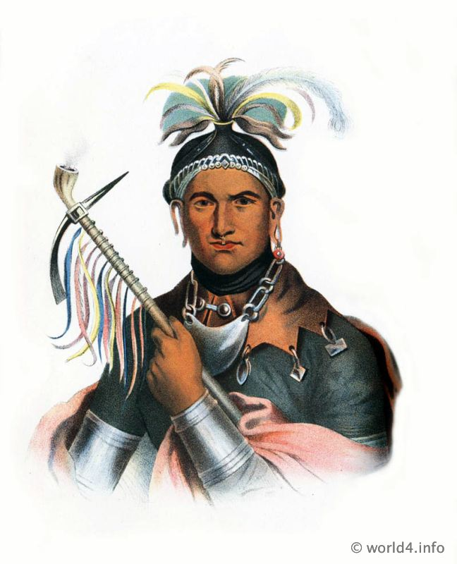 Seneca, Chief, Natives, Native, America, Tribes, Indian, costumes