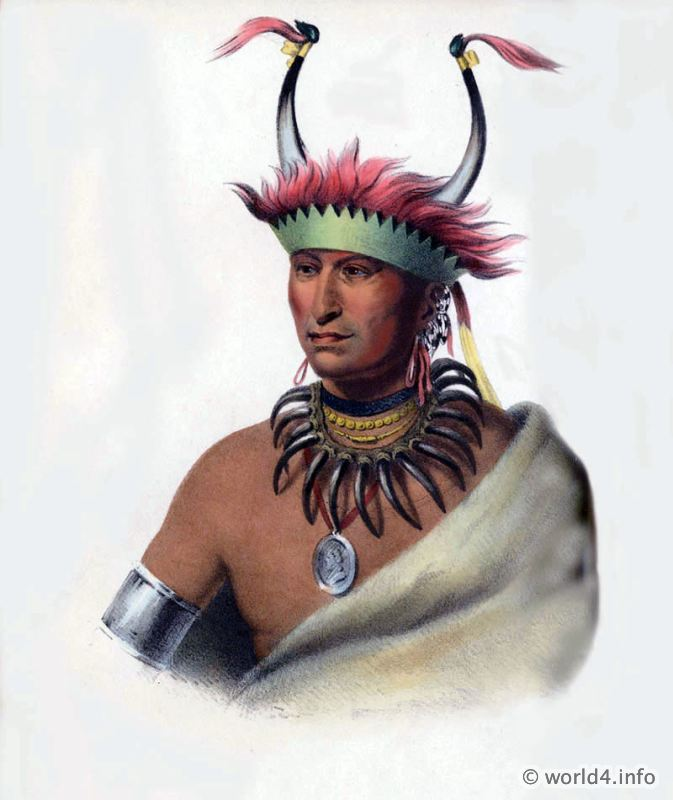 Ottoe, Half, Chief, Natives, Native, America, Tribes, Indian, costumes