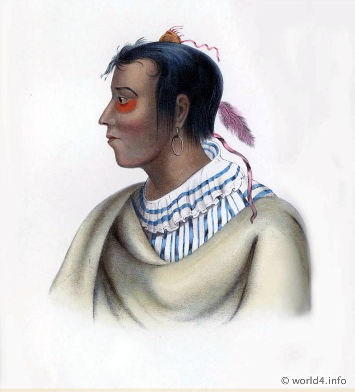Pottawatime, Chief, Natives, Native, America, Tribes, Indian, costumes