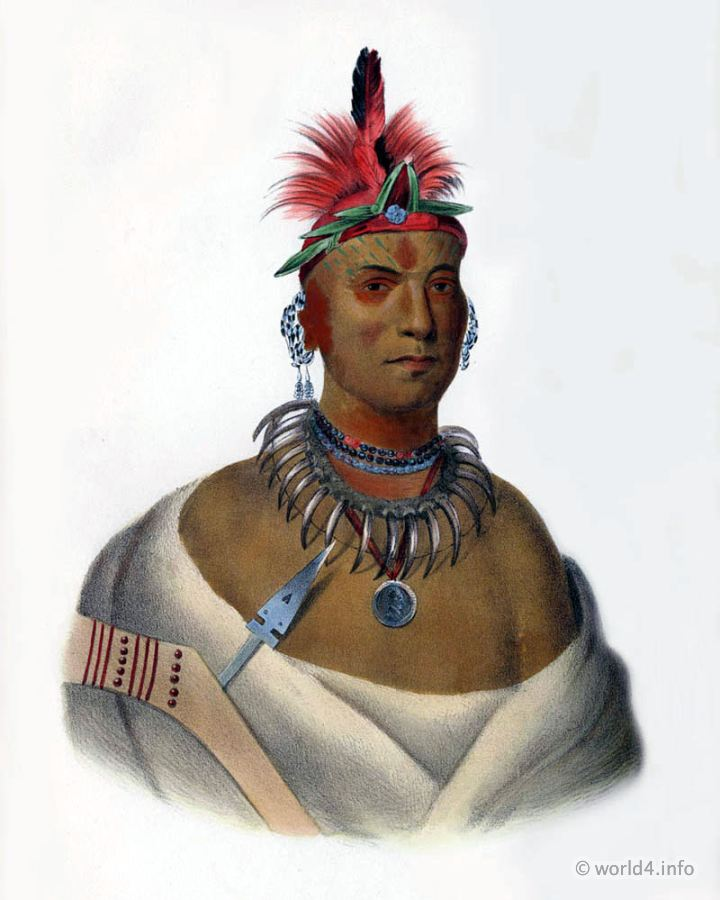 Second, Chief, Natives, Native, America, Tribes, Indian, costumes