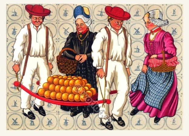 netherlands, West Friesland, Dutch, costumes,
