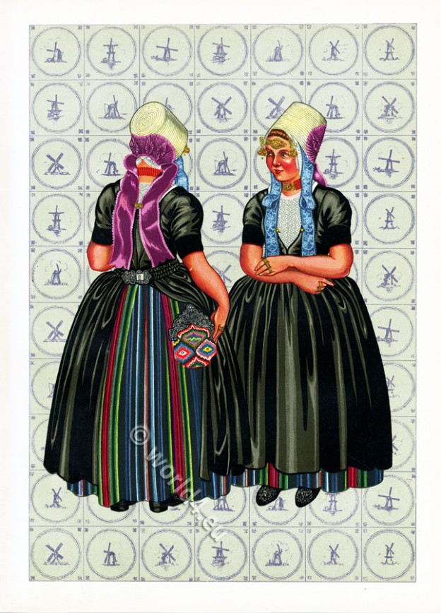 Netherlands, Walcheren, province, Zeeland, Dutch, costumes,