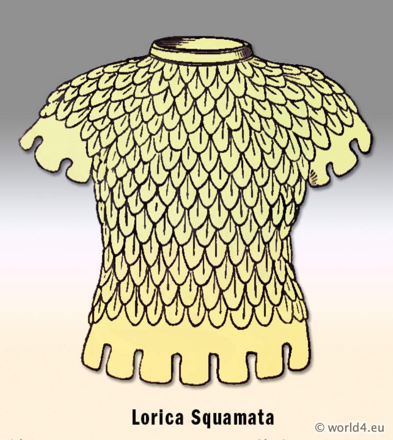 Lorica Squamata, Ancient, Roman, Armour, chain mail,