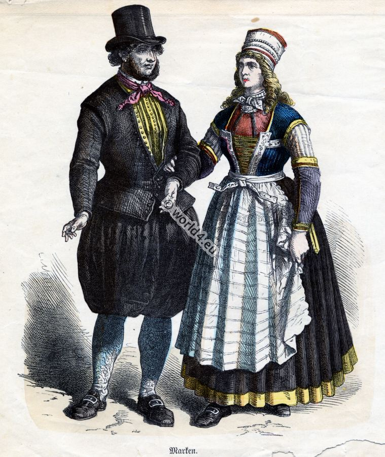 Dutch, Marken, Costumes, Historical, Netherland,