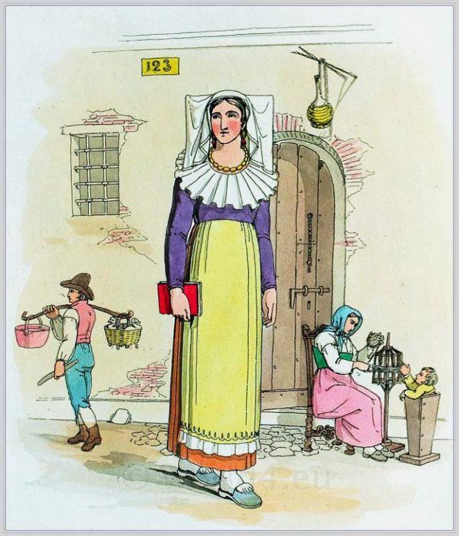 femmina,Vercelli, Costume, popolare, piemontese