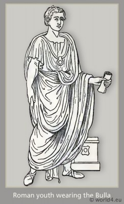 roman fashion history,, ancient, rom, bulla