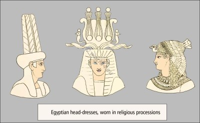 Egyptian fashion history, Atef crown, crown feathers, head-dresses,Blue Crown,