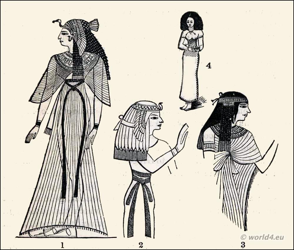 Egyptian fashion history, Ancient, Egypt, costumes, sash, Dresses,