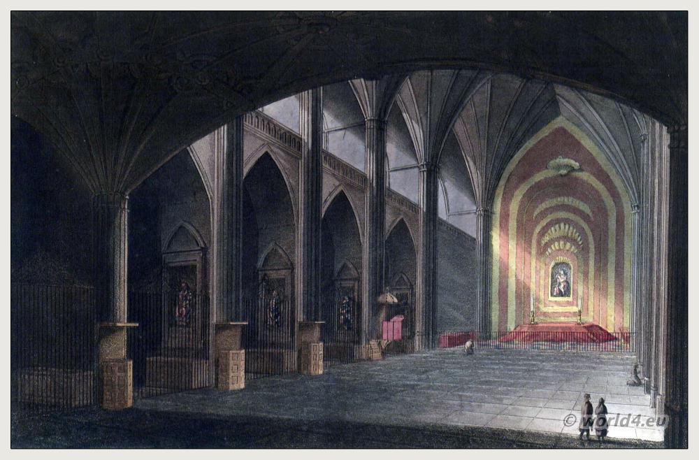 Spanish architecture Convento de San Esteban, Salamanca. Roman Catholic worship. Steel engraving. The Peninsula War.