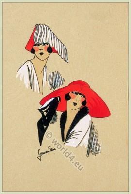 Muscadines, Chapeaux, Art-deco, flapper, fashion, Très Parisien