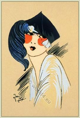Petite Soiree, Chapeaux, Art-deco, flapper, roaring twenties, fashion, Très Parisien