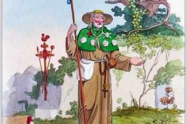 Pilgrimage, costume, italia, monk