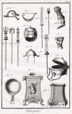 Roman Antiquities Artefacts. Roman legionary weapons