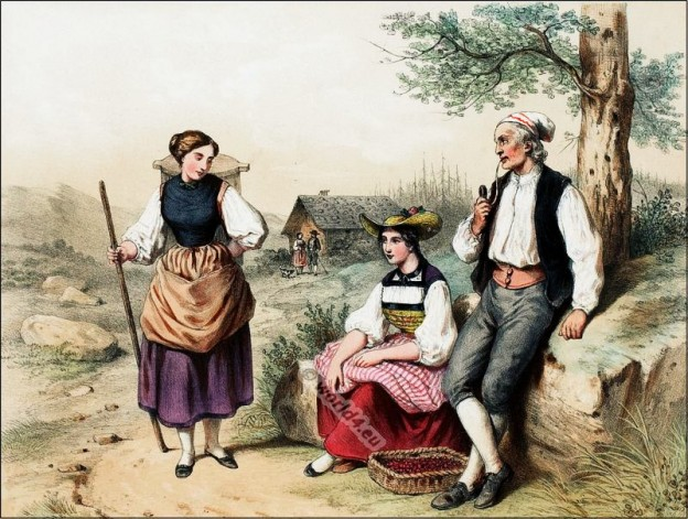 Berne, Oerland, Costumi nazionali svizzeri, Switzerland National Costumes, Suisse Costumes nationaux,