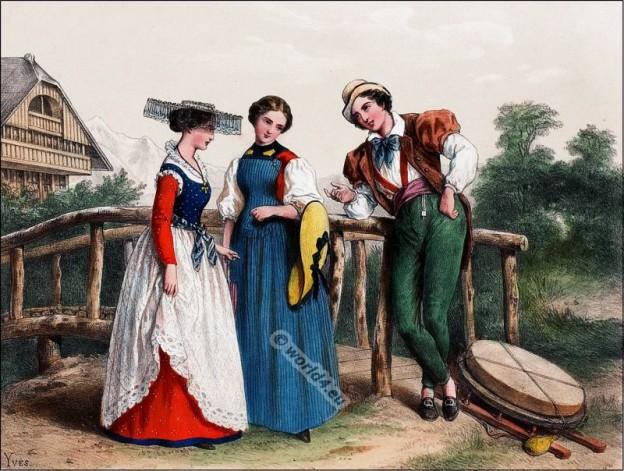 Fribourg, Switzerland national costumes,