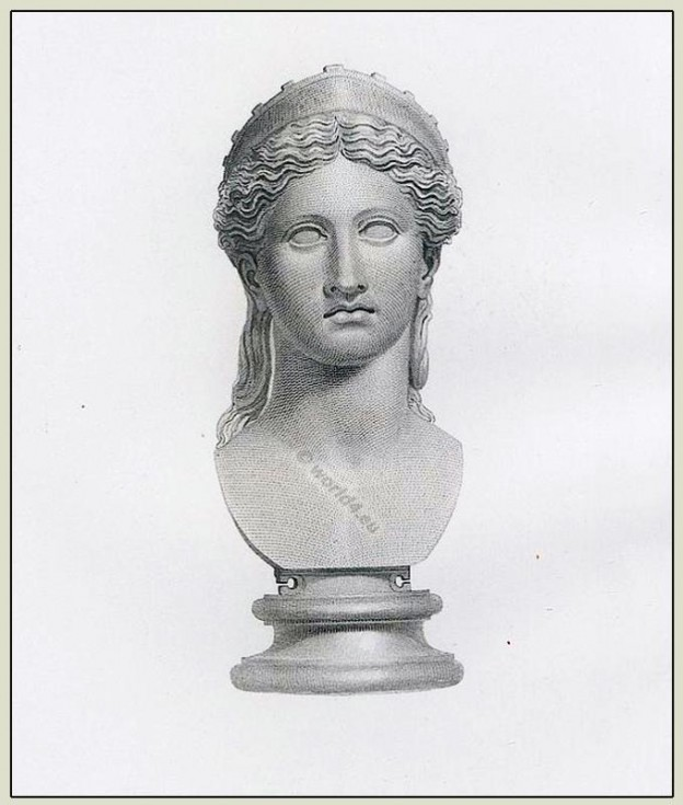Juno, Roman, Headdress, diadem, Goddess, ancient, Marbles, British Museum,