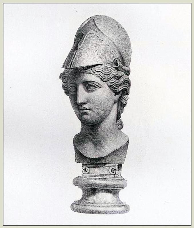 Minerva, helmet, Goddess, ancient Marbles, British Museum,