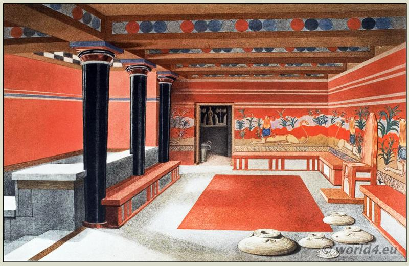 Knossos, Palace, Ancient, Minoan, Architecture