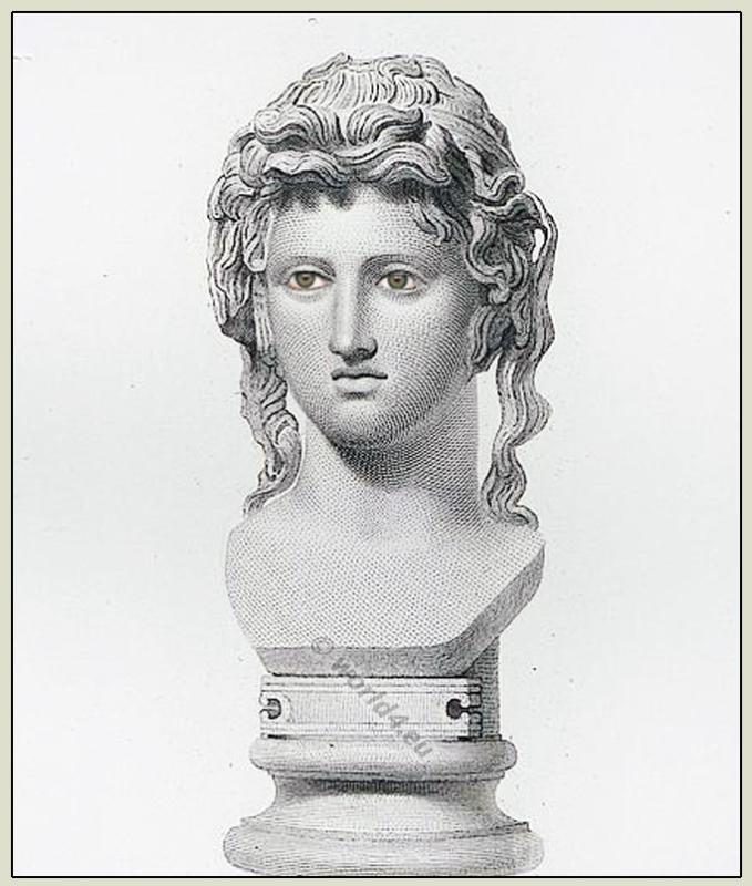 Bacchante,Bacchus, Maenad,  Ancient Greek, Bust, British Museum