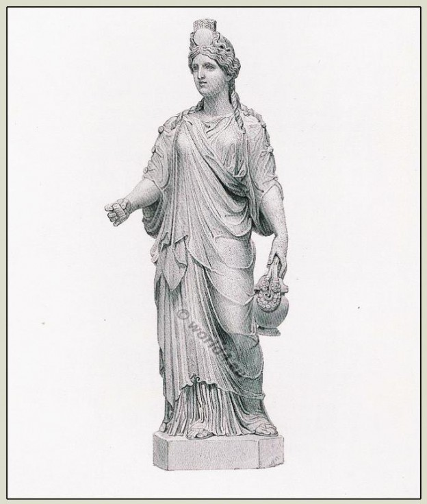 Ancient, Roman, Statue, Ceres, Tunica, Chiton, Marbles, British Museum,