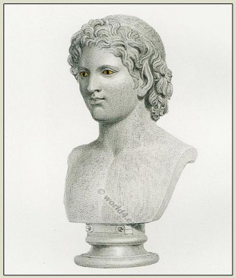 Ancient Greek Satyr sculpture, hairstyle. Antique Greece Goddess. Character modeling.