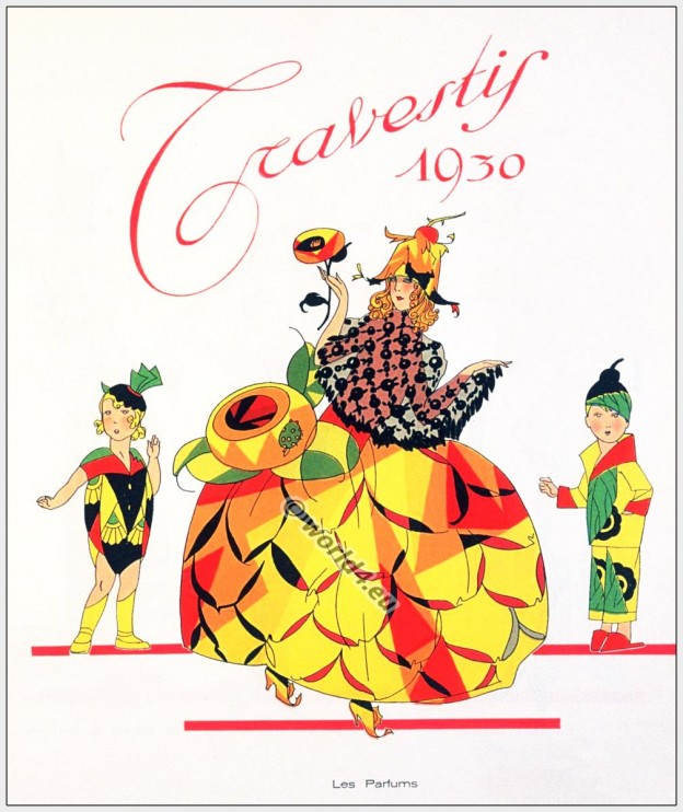 Art deco fashion. French Art deco Costumes. Carneval fantasie costume.