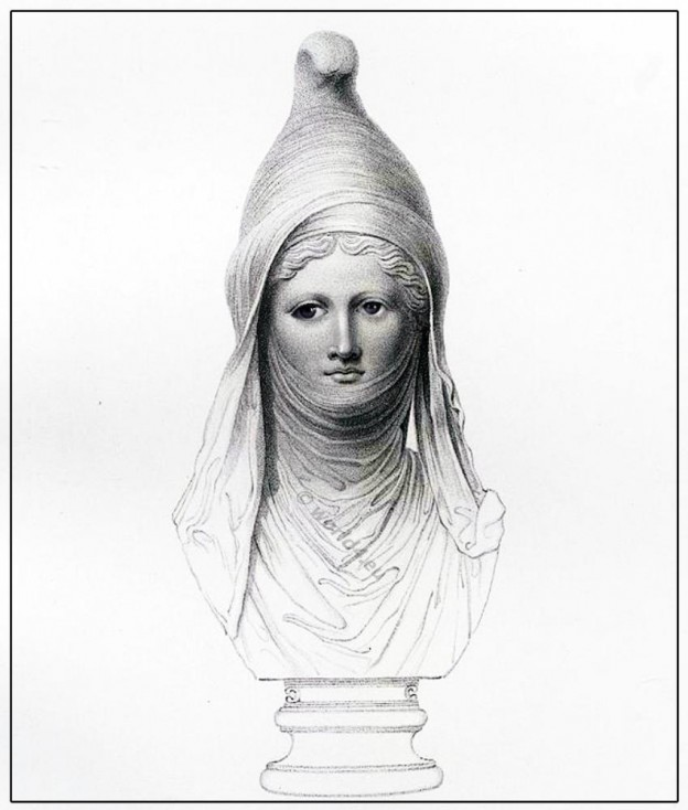 Bust, Ancient, Phoenician, Cidaris, Adonis, Bacchus, Greek, Marbles, British Museum,