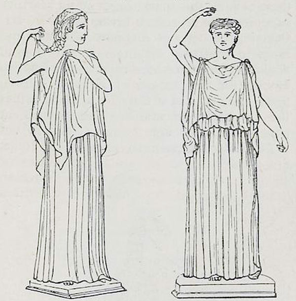 Ancient, Greek, costume, tunica, Ionic, Dorian, Chiton.
