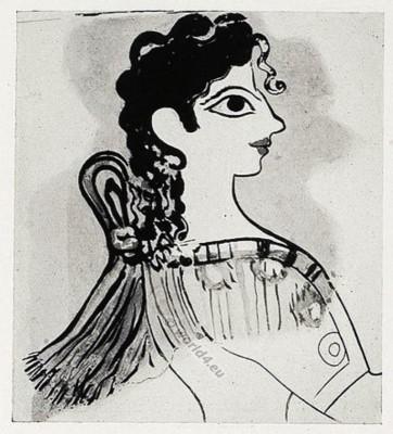 La Parisienne, Minoan, Costumes,  Ancient, Minoan, Knossos