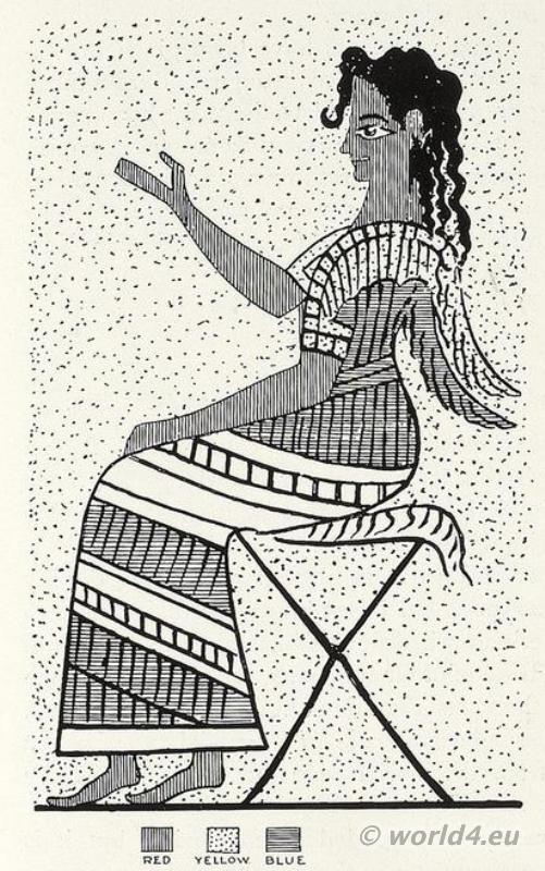 Boy Votary, Palace, Knossos, Minoan, Crete, Ancient,